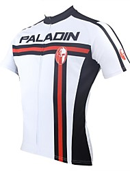 cheap -ILPALADINO Cycling Jersey Men's Short Sleeves Bike Jersey Top Quick Dry Ultraviolet Resistant Breathable 100% Polyester Spring Summer