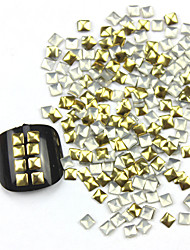 preiswerte -300PCS 3D Golden Square Alloy Nail Art Golden & Silver Schmuck