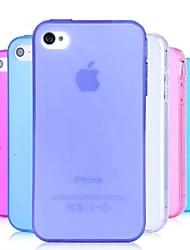 Недорогие -Кейс для Назначение iPhone 4/4S Кейс на заднюю панель Мягкий ТПУ для iPhone 4s / 4
