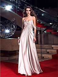 cheap -Sheath / Column Sweetheart Floor Length Stretch Satin Prom Dress with Criss Cross by TS Couture®
