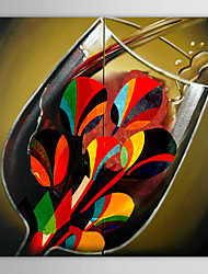 cheap -Oil Painting Hand Painted - Still Life Comtemporary Canvas