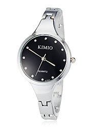 Women's Fashion Watch Quartz Stainless Steel Band Bangle Silver