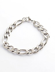 cheap -Fashion Vintage  Men's Silver 316L Stainless Steel Chain Cable  Bracelet Christmas Gifts