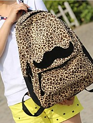 billige -Kvinders Lovely Leopard Print Canvas Rygsække