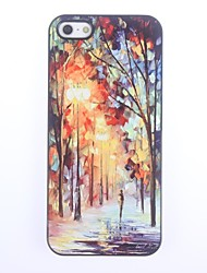 cheap -Case For iPhone 5 Apple iPhone 5 Case Pattern Back Cover Scenery Hard PC for iPhone SE/5s iPhone 5