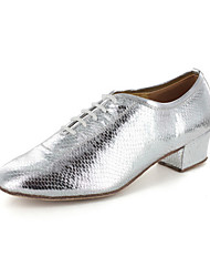 Women's Leatherette Upper Modern Dance Shoes Oxfords With Lace-ups