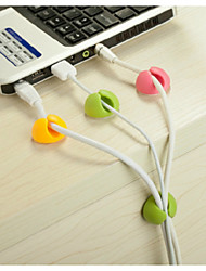 Cable Organizer Desktop Wire Fixing Clip Tidy USB Charger Cord Holder 4 PCS