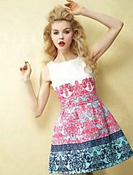 JFS ženska cvjetni print rukava haljina