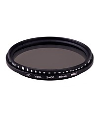 55mm Pro Slim Fader Variable Neutral Density ND Filter Adjustable from ND2 to ND400 ND2-ND400