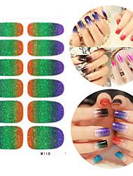 28PCS Glitter Verlaufsart Nail Art Sticker M-Serie No.118