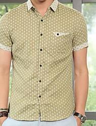 abordables -Casual Shirt Spread de manga corta para hombre (patrón aleatorio)