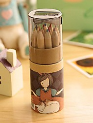 cheap -Cartoon Girl Pattern 12 Color Painting Pencil(12 PCS/Set) For School / Office