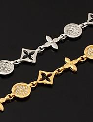 cheap -Women's Crystal Chain Bracelet Crystal Rhinestone Platinum Plated Bracelet Jewelry