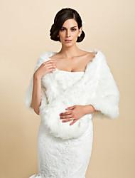 Fur Wraps / Wedding  Wraps Shawls Faux Fur White Wedding / Party/Evening