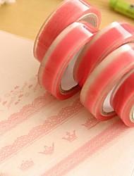 cheap -Pink Lace Pattern Tape
