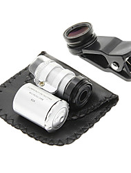 cheap -Cell Phone Clip and 60 Times Magnifying Lens in Set