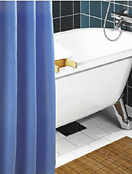Shower Curtain Polyester Waterproof Pure Blue W72 x L72""