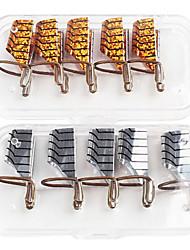 economico -5 pezzi di nail art in alluminio con colori misti