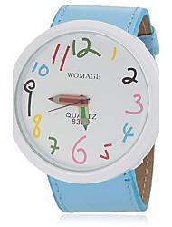 Недорогие -Жен. Модные часы Кварцевый PU Группа Синий Оранжевый Коричневый Розовый Фиолетовый Желтый