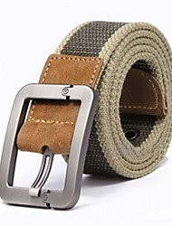 cheap -Men's Others Wide Belt,Khaki Casual Striped