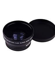 52MM 0.45X Lente Gran Angular Lente Macro para Nikon D5100 Bolsa D5000 D7000 D3100 D3200 D80 D90