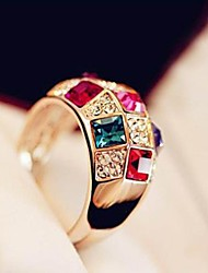cheap -Super Sparkle Austria Colorful Crystal Female Money Costly Nobility Classic Ring