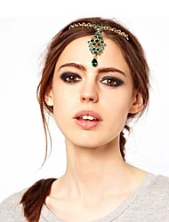 Women Alloy/Gemstone Head Chain , Vintage/Party