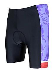 baratos -ILPALADINO Homens Bermudas Acolchoadas Para Ciclismo Moto Shorts / Shorts Acolchoados / Calças Tapete 3D, Resistente Raios Ultravioleta, Respirável Poliéster, Lycra Roupa de Ciclismo