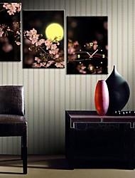 economico -Il Plum Blossom Under The Clock Luna in 3pcs su tela