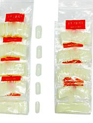abordables -500PCS mitad Nail Tips Nail Art Tips (colores surtidos)