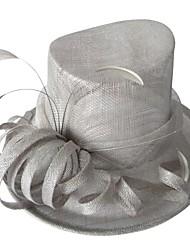 お買い得  -フェザーに人気亜麻女性アウトドア/宴会/カジュアル/ Travelings帽子