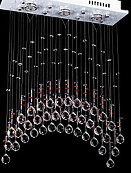 cheap -50W 5 Lights Clear light Stainless steel K9 Crystal Chandelier