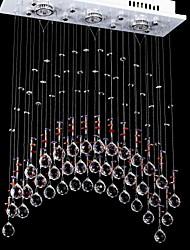 50W 5 Lumières Effacer lumière acier inoxydable lustre de cristal K9