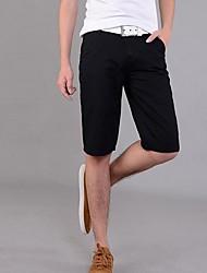 billige -Herre Chic & Moderne Shorts Jeans Bukser Ensfarvet