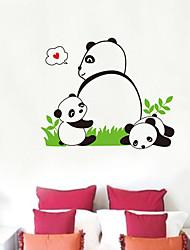 Panda Muster Wandaufkleber (1PCS)