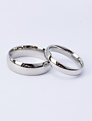 cheap -Men's Women's Couple Rings Titanium Steel Round Jewelry For Daily Casual