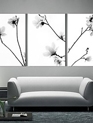 Stretched Art Canvas The Quiet Flowers Set di 3