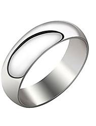 Недорогие -унисекса серебристая титана стальное кольцо