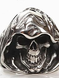 Anneaux bijoux de fantaisie Acier au titane Forme de Tête de Mort Bijoux Pour Quotidien Regalos de Navidad
