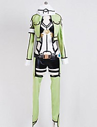 abordables -Inspiré par Sword Art Online Shino Manga Costumes de Cosplay Costumes Cosplay Manches Longues Manteau Collant/Combinaison Casque Gants