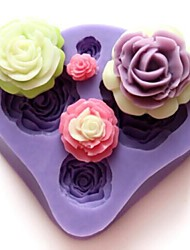 cheap -Mold Flower For Chocolate For Pie For Cake Silicone DIY Valentine's Day High Quality