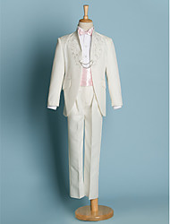 Недорогие -Полиэфир Детский праздничный костюм - 5 Куски Включает в себя Жакет / Рубашка / Брюки / Широкий пояс / Галстук-бабочка