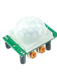 abordables -Módulo del sensor HC-SR501 Humano piroeléctrico infrarrojo para Arduino UNO R3 Mega 2560 Nano