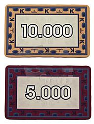 economico -rettangolari in ceramica chip mahjong giocattoli