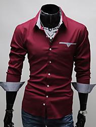 Недорогие -tizeland мужская лацкане шеи оболочка с длинным рукавом