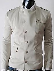 Недорогие -Все мужские стенд воротник сплошной цвет куртки