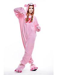Kigurumi Pajamas Bear Raccoon Costume Pink Polar Fleece Kigurumi Leotard / Onesie Cosplay Festival / Holiday Animal Sleepwear Halloween