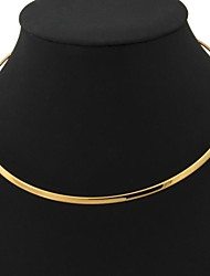 cheap -Women's Circle Shape Fashion Torque Platinum Plated Gold Plated Torque Wedding Party Daily Casual Costume Jewelry