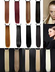 abordables -Excelente calidad sintético 24 pulgada de largo Cinta Straight Ponytail del Hairpiece - 18 colores disponibles