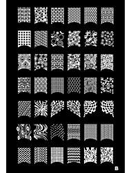 billige -1stk 42 plante mønster Nail Art stempel stempling billede skabelon plade b
